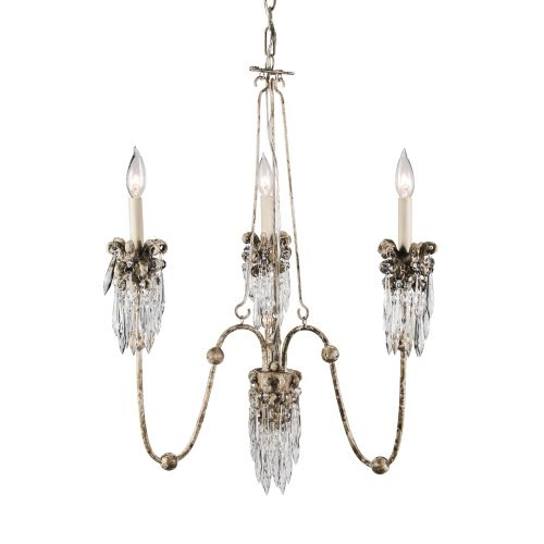 Flambeau Venetian 3 Light Chandelier Beige Patina Gold FB/VENETIAN3