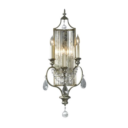 Feiss Gianna Hand Painted Silver Triple Wall Light FE/GIANNA3W