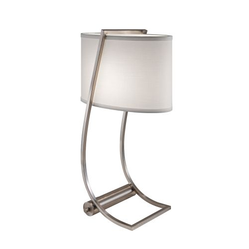 Feiss Lex Brushed Steel Desk Lamp. USB Port And Shade FE/LEX TL BS