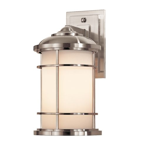 Feiss Lighthouse Medium Wall Lantern Brushed Steel ELS/FE/LIGHTHOUSE2/M