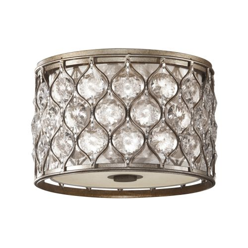 Feiss Lucia Flush Sunflower Crystals And Silver Frame FE/LUCIA/F