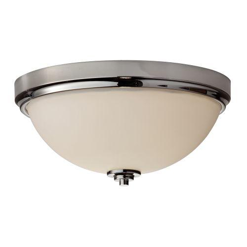 Feiss FE/MALIBU/F BATH Malibu 2Lt Polished Chrome Bathroom Flush Ceiling Light