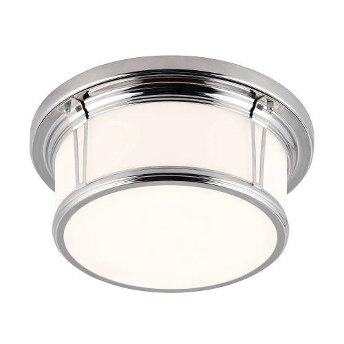 Feiss FE/WOODWARD/F/M 1Lt Polished Chrome Bathroom Ceiling Flush