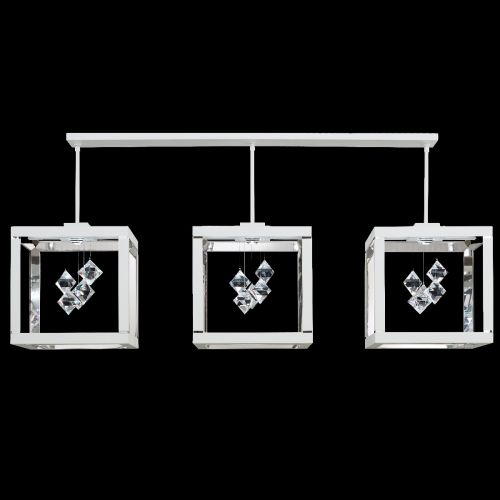 Swarovski SQB610 Fyra LED Crystal Bar Ceiling Pendant White Frame