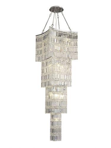 Diyas Gianni 11 Light Tall Pendant  Polished Chrome/Crystal IL30644