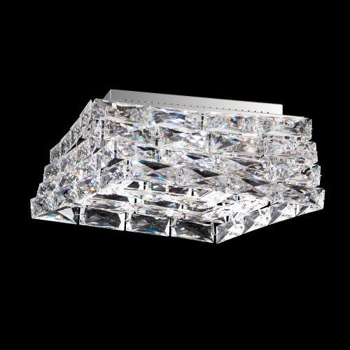 Swarovski STW710 Glissando LED Crystal Flush Light Stainless-Steel Frame