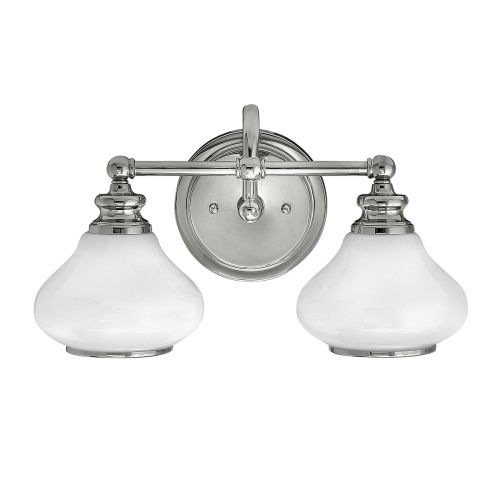 Hinkley Ainsley 2lt Bathroom Wall Light Polished Chrome ELS/HK/AINSLEY2 BATH