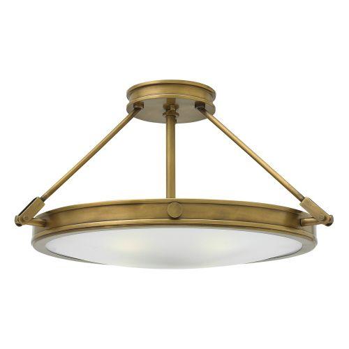 Hinkley Collier 4 Light Heritage Brass Semi-Flush HK/COLLIER/SF/M