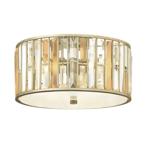 Hinkley Gemma Flush Ceiling Light HK/GEMMA/F SL Silver Leaf