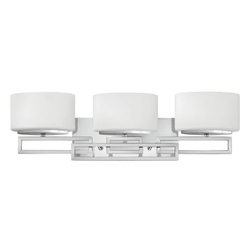 Hinkley Lanza 3lt Bathroom Wall Light Polished Chrome ELS/HK/LANZA3 BATH