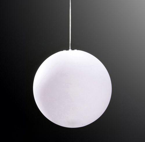 Mantra M1399 Huevo Large Ball Outdoor Pendant Fitting 1 Light IP44 Opal White