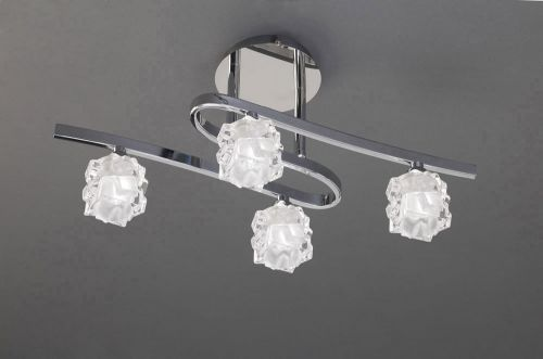 Mantra Ice 4 Light Polished Chrome Ceiling Fitting M1843