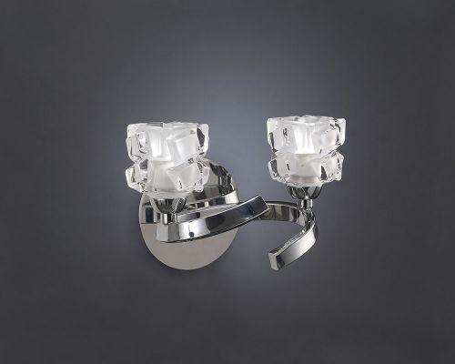 Mantra Ice 2 Light Polished Chrome Wall Light M1844/S