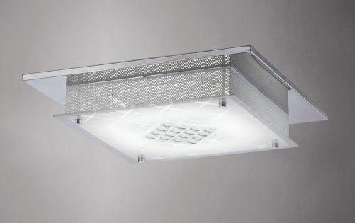 Diyas IL80051 Ines Flush Ceiling Fitting LED 3600K Polished Chrome Crystal