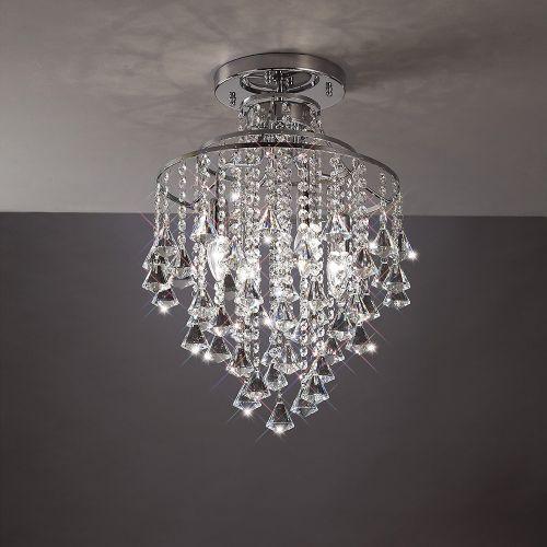 Diyas Inina 4 Light Ceiling Polished Chrome/Crystal IL30770