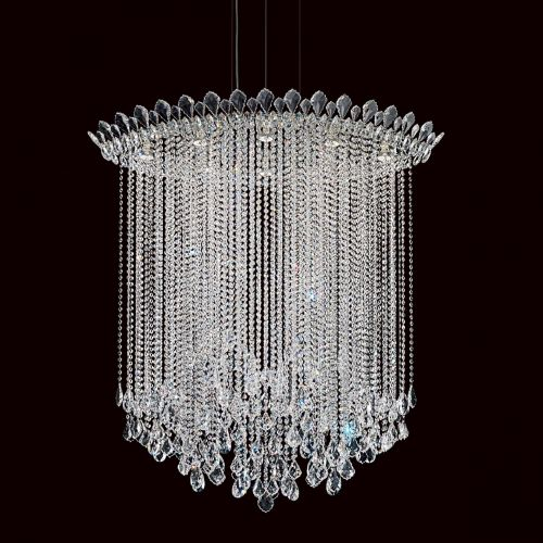 Schonbek Trilliane Strs 8 Light Pendant Fitting Stainless Steel Clear Heritage Crystal TR4813E-401H