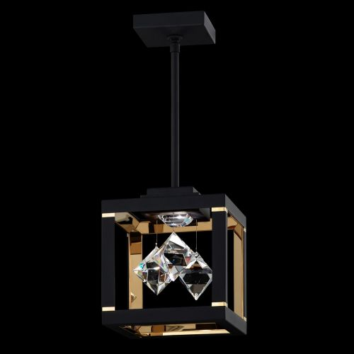 Swarovski Fyra Pendant Fitting Black Clear Crystals SQB410E-BK1S