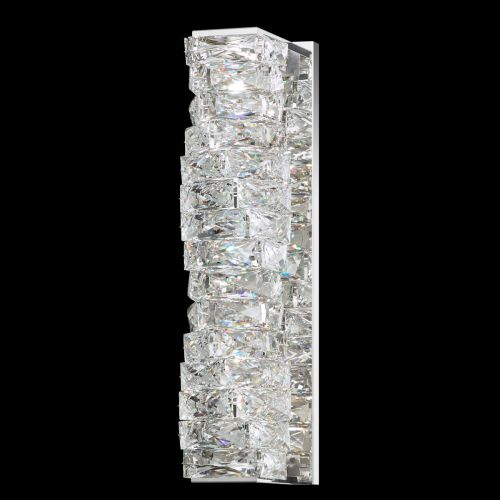 Swarovski Glissando 2 Light Wall Light Stainless Steel Clear Crystals From Swarovski STW120E-SS1S