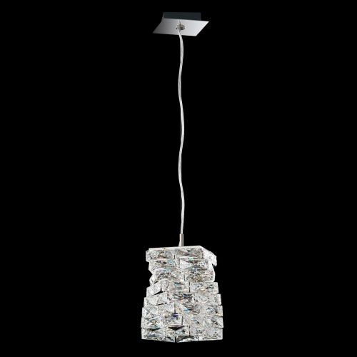 Swarovski Glissando LED Pendant Fitting Stainless Steel Clear Crystals From Swarovski STW510E-SS1S