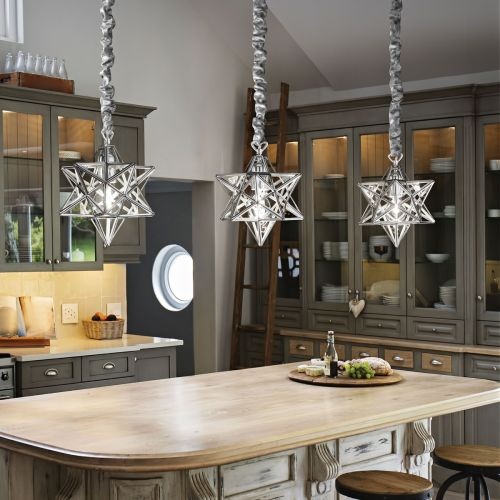 Ideal Lux 093000 Stella Small Single Pendant Chrome Frame