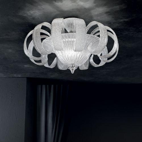 Ideal Lux 103440 Tintoretto 4 Light Semi Flush White Frame