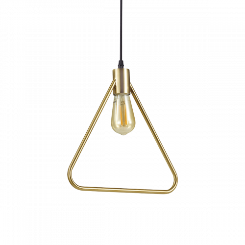 Ideal Lux 207834 Abc Triangular Single Pendant Antique Brass Frame