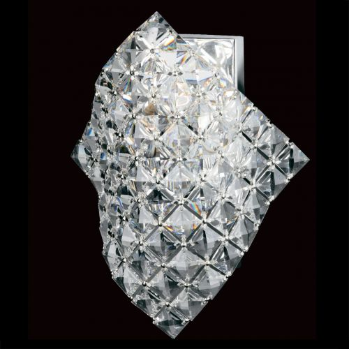 Impex CF01081/WB/CH Diamond Crystal Single Wall Light Chrome Frame