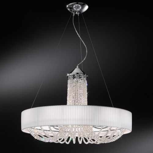 Kolarz FLO.1097/S60.03.T-WH Gioiosa Crystal 6 Light Pendant Polished Chrome Frame