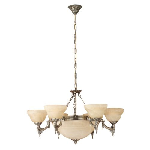 Eglo 85858 Marbella 9 Light Multi-Arm Pendant Bronze Frame