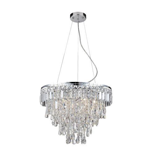 Marquis By Waterford Bresna IP44 Crystal Pendant Polished Chrome WF-25202-CHR