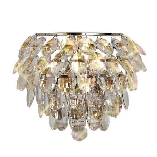 Diyas Coniston IL32806 Crystal Single Wall Light Polished Chrome Frame