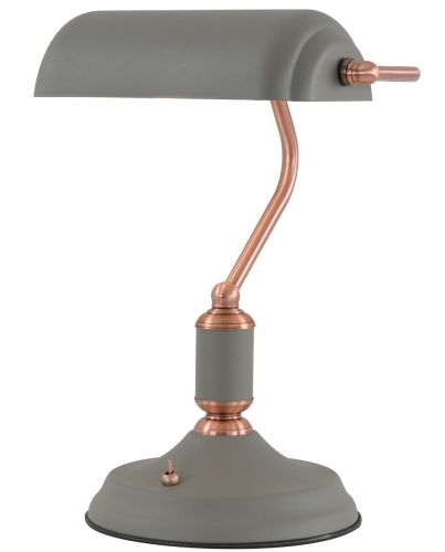Table Lamp With Switch Sand Grey Copper Lekki Blake LEK3036