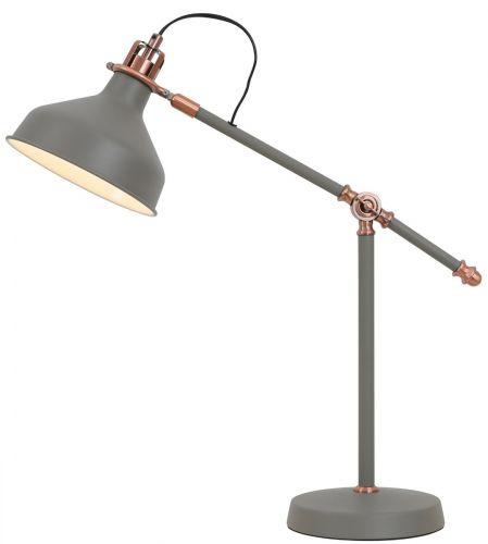 Table Lamp Sand Grey Copper White Lekki Blake LEK3038