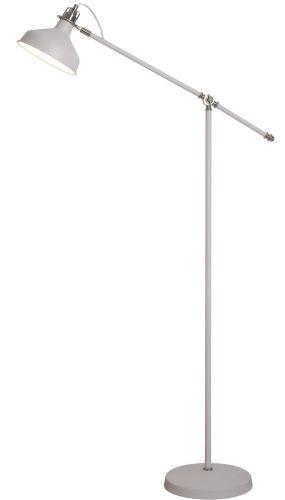 Floor Lamp Sand White Satin Nickel White Lekki Blake LEK3041