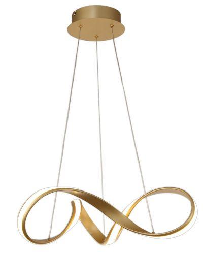 LED Ceiling Pendant Light Fitting Sand Gold Small Lekki Bradley LEK3058