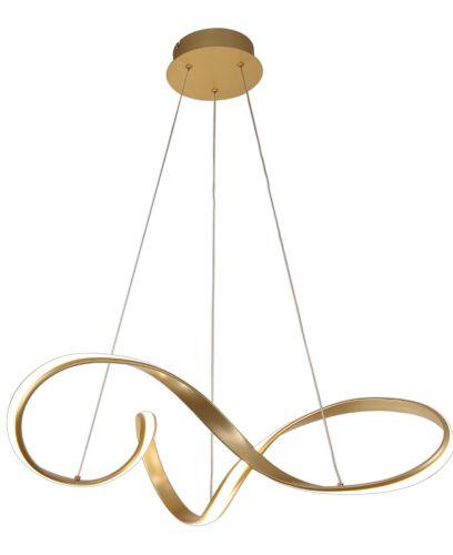 Large LED Pendant Light Fitting Sand Gold Lekki Bradley LEK3060