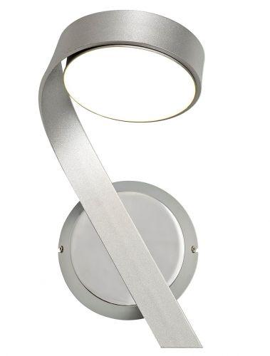 Switched LED Wall Lamp Left Silver Chrome Lekki Chayton LEK3071