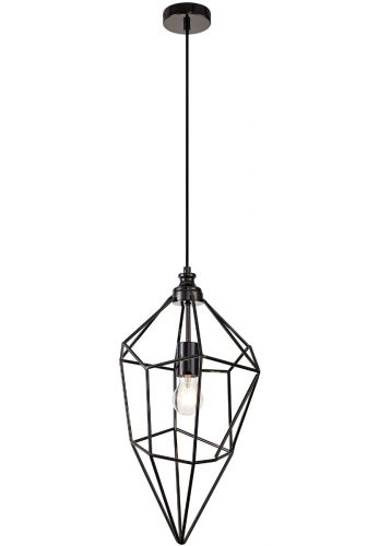 Large Pendant Light Fitting Black Nickel Lekki Delta LEK3105