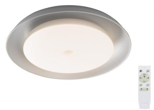 LED Flush Ceiling Fitting White Lekki Thunder Built In Speaker Bluetooth Remote Control