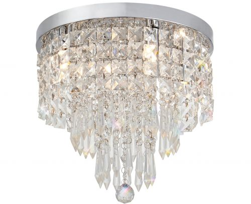 Crystal Bathroom Ceiling Light Fitting Chrome Lekki Isabella LEK3130