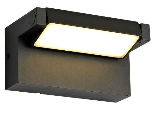 Outdoor LED Wall Lamp Graphite Black Lekki Lark LEK3157