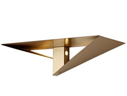 Wall Lamp Shelf LED Gold Painted Lekki Tahu LEK3280