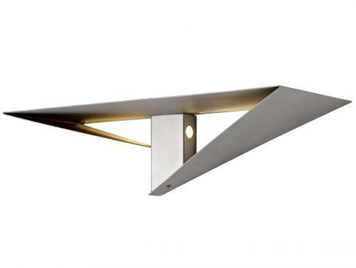 Wall Lamp Shelf LED Silver Painted Lekki Tahu LEK3281