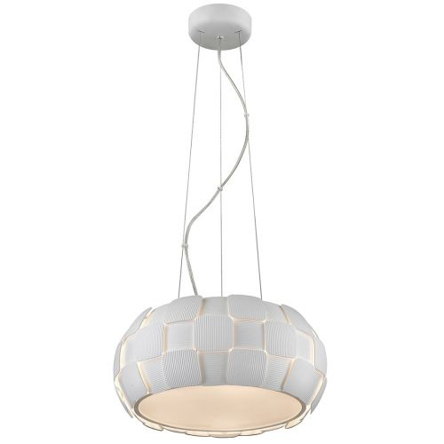 Impex PG504241/05/WH Brigitte 5 Light Pendant White Frame