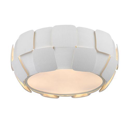 Impex PG504241/04/PL/WH Brigitte 4 Light Ceiling Flush White Frame