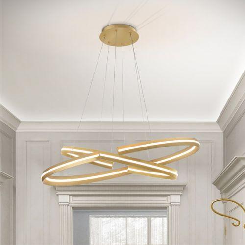 Schuller Elipse 652138 LED Small Ceiling Pendant Gold Frame