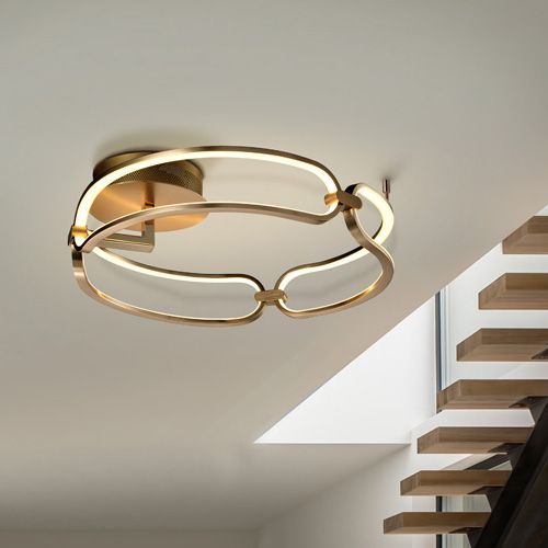 Schuller Colette 786430 LED Small Ceiling Flush Golden Frame
