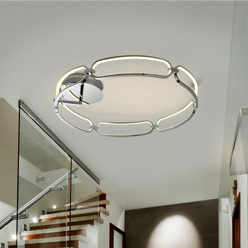 Schuller Colette 786577 LED Large Ceiling Flush Chrome Frame