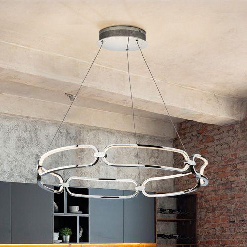 Schuller Colette 786973 LED Large Ceiling Pendant Chrome Frame