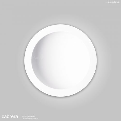 Mantra Cabrera 30cm Round Ceiling Downlight 30W LED 4000K 2600lm Matt White MC0050
